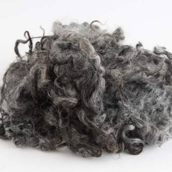 Natral wool locks grey unwashed